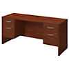 66W x 24D Desk with Two 3/4 Pedestals
