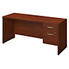 72W x 24D Desk with 3/4 Pedestal