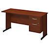 60W x 24D C Leg Desk with 3/4 Pedestal