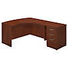 60W x 43D Right Handed L Shaped Desk with Return and 3 Drawer Pedestal