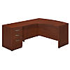 60W x 43D Left Handed L Shaped Desk with Return and 3 Drawer Pedestal