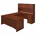 72W x 30D U Shaped Desk with Storage