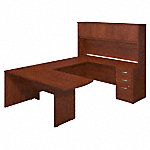 72W x 30D Peninsula U Shaped Desk with Storage