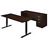 72W Height Adjustable Standing Desk with Credenza