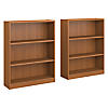 3 Shelf Bookcase Set of 2