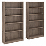 5 Shelf Bookcase Set of 2