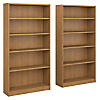 5 Shelf Bookcase Set of 2