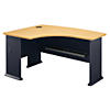 60W x 44D Left Hand L-Bow Desk