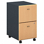 2 Drawer Mobile Pedestal - Assembled