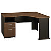 Corner Desk with 2 Drawer Pedestal