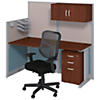 65W x 33D Straight Workstation with Storage and Chair