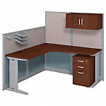 65W x 65D L-Workstation with Storage and Accessory Kit