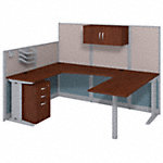 89W x 65D U Shaped Cubicle Workstation with Storage