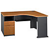 Single 2 Drawer Pedestal Corner Desk