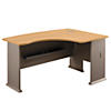 60W x 44D Right Handed L Bow Desk