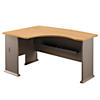 60W x 44D Left Handed L Bow Desk