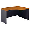 60W x 43D Right Handed L Bow Desk