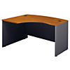 60W x 43D Left Handed L Bow Desk