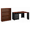 Reversible Corner Desk with 3 Shelf Bookcase