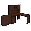 60W L-Desk with Hutch and Lateral File